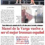 El mejor Ironman Español recomienda beber agua de mar